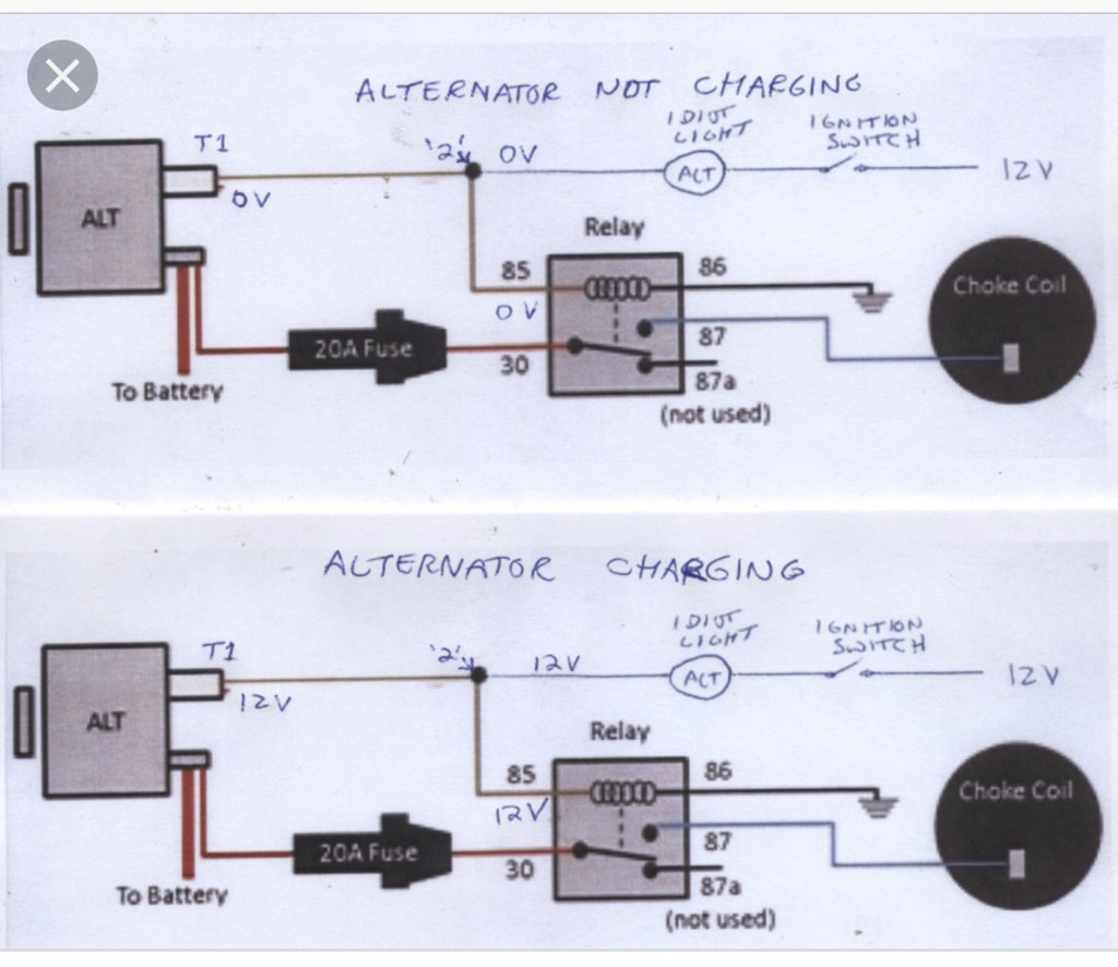 Electric Choke Simple Wiring