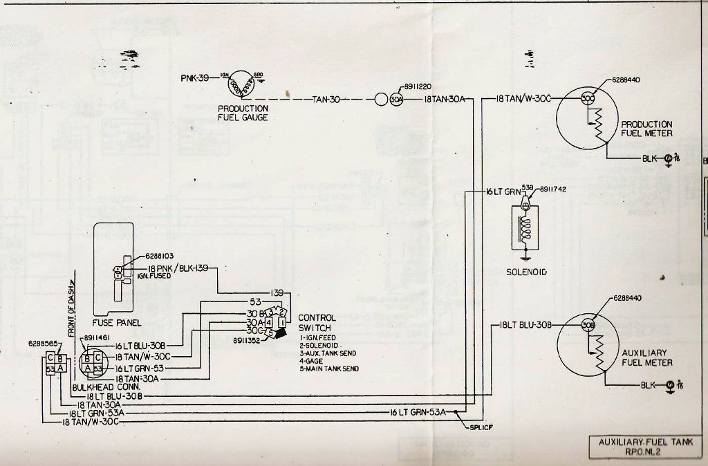 help with fuel gauge wiring gm square body 1973 1987 gm truck Chevy Astro Van AC Wiring Diagram 77_dualtankwiring jpg