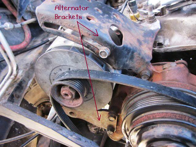 89 350 TBI Motor Accesory Bracket Mounting Bolt Locations | GM
