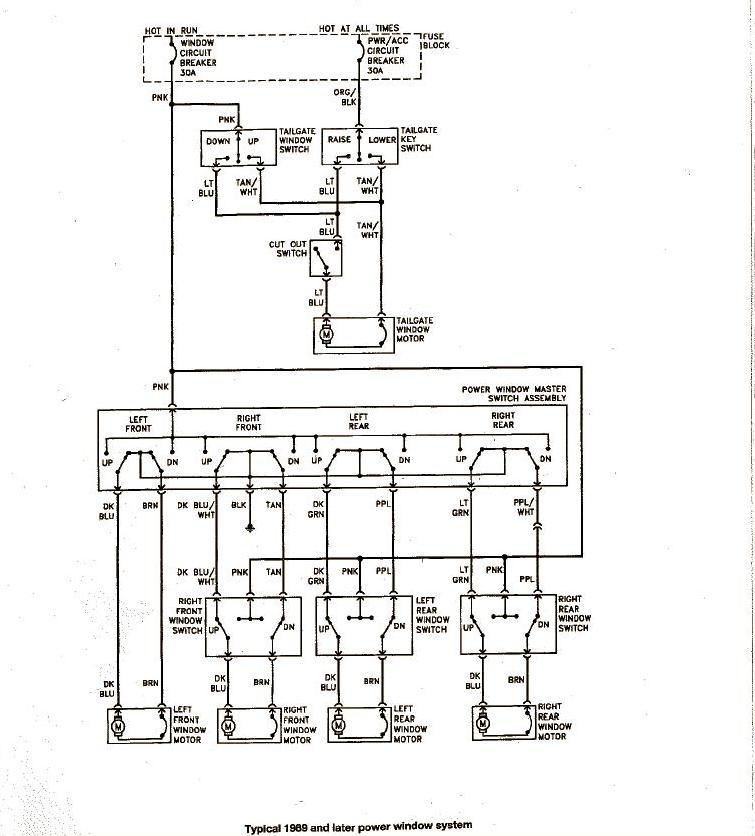 Power Window Wiring Schematic For Dodge Pick Up